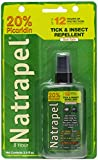 Natrapel 12-Hour Mosquito, Tick and Insect Repellent Pump Spray, DEET-Free Picaridin, Long Lasting Bug Protection, Repel Insects, Best Full Coverage, TSA Approved, Airplane Travel Size, 3.4oz