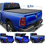 Tyger Auto (Soft Top T3 Tri-Fold Truck Tonneau Cover TG-BC3D1044 Works with 2019 1500 New Body Style | Without Ram Box | Fleetside 5.7' Bed