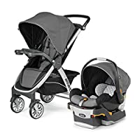 For older babies and toddlers, the Chicco Bravo Quick-Fold Stroller features a multi-position reclining backrest, five-point harness, child tray with two cup holders, and large adjustable canopy. For younger babies, the Bravo Stroller accepts the Chi...