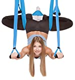DragonsHouse Yoga Inversion Swing, Anti-Gravity Aerial Sling Flying Hammock - Relieves Back Pains, Improves your Balance and Flexibility