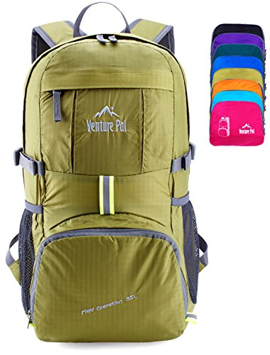 e0850ceffdde Venture Pal Lightweight Packable Durable Travel Hiking Backpack Daypack  (Green)