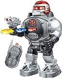 RoboShooter Robot Télécommandé Pour Enfants - Robot Jouet Amusant Incendies de Disques, Danses, Discussions - Superbe Jouet Robot RC Programmable pour Garçons et Filles à partir de 5 6 7 8 9 10 Par ThinkGizmos