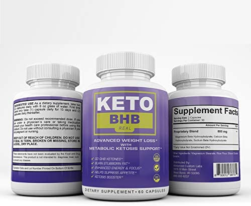 Keto BHB Real - Advanced Weight Loss wqth Metabolic Ketosis Support - 60 Capsules - 30 Day Supply 9