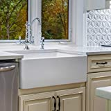 "Fine Fixtures Sutton Fireclay Sink, 30"" Apron Front Farmhouse Kitchen Sink."