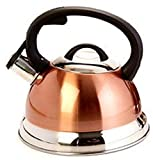 KitchenWorks Whistling Tea Kettle in Metallic Copper