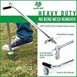Worth Garden Stand-Up Weeder and Root Removal Tool - Ergonomic Weed Puller with A 33' Tall Handle and Foot Pedal - Easy Weed Grabber Made from Rust-Resistant Steel - 3 Year Warranty