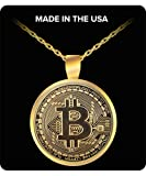 Bitcoin Necklace - Gold Plated Bitcoin Jewelry - Bitcoin Gift - Bitcoin Miner - Cryptocurrency