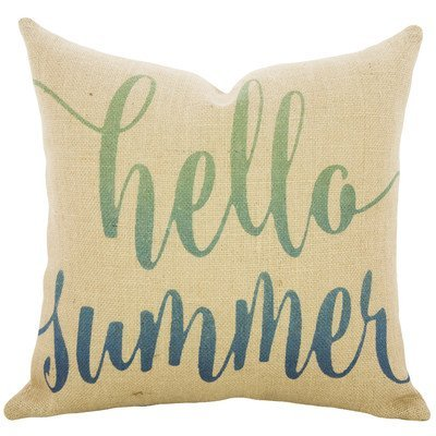 Proven Nautical Hello Summer Decorative Pillow Case 18 x 18 inch