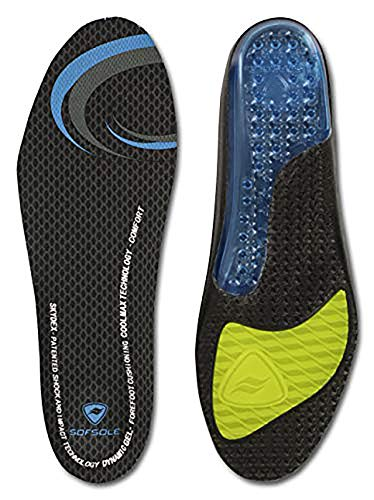 Sof Sole Insoles Women's AIRR Performance Full-Length Gel Shoe Insert, Women's 8-11 Black