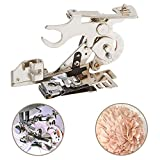 Onerbuy Ruffler Sewing Machine Presser Foot Gathering Pleats and Ruffles Attachment for Low Shank Singer, Brother, Babylock, Viking, Janome, Kenmore
