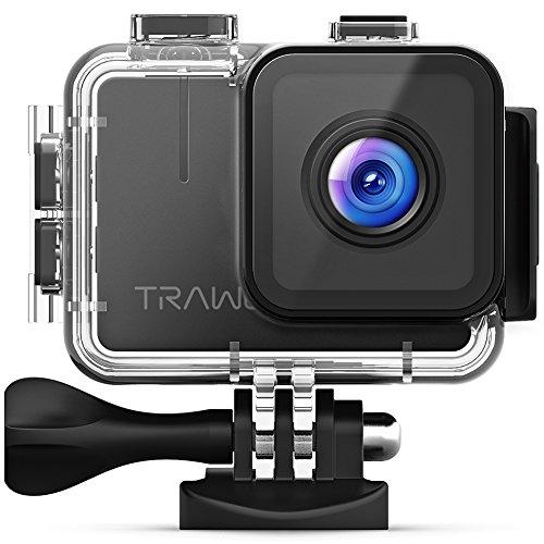 APEMAN Trawo Action Camera 4K WiFi Ultra HD 20MP Underwater Waterproof 40M Camcorder with 170 ° Ultra-Wide Angle Advanced Sensor EIS Stabilization Dual 1350 mAh Batteries