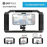 Triad Grip - Handheld Pro Vlogging Rig Tray for Smartphone, GoPro Hero 7/6/5/4/3, Osmo Action, GoPro Fusion, Mirrorless, DSLR, iPhone Xs Max XR X 8 7 Plus