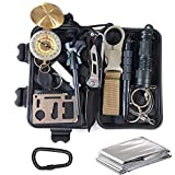 KEPEAK Emergency Survival Gear Kit, 14 in 1 Survival Kit Tool, Emergency Kit for Camping, Hiking, and Adventure