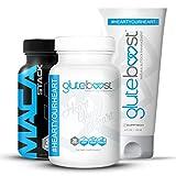 Gluteboost | Best Butt Enhancement Kit - Pills, Cream, and Maca for Bigger Butt - 1 Month (30ct / bottle)…