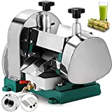 BestEquip Manual Sugar Cane Juicer 110LBS/H Sugar Cane Juice Extractor 60%-80% Juice Extraction Rate Sugar Cane Press Extractor Stainless Steel Shell and Inside Rollers