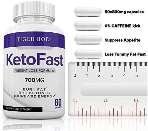 (2 Pack) Keto Fast Diet Pills, Keto Fast 700 mg Burn Capsules - Pure Keto Fast Supplement Burning for Energy - BHB Ultra Boost Exogenous Ketones for Rapid Ketosis for Men Women 7