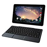 RCA Galileo Pro 11.5' 32GB Touchscreen Tablet Computer with Keyboard Case Quad-Core 1.3Ghz Processor 1GB Memory 32GB HDD Webcam Wifi Bluetooth Android 6.0-Charcoal