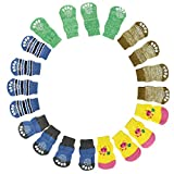 Fashion 4Pcs Cute Puppy Dogs Pet Knits Socks Anti Slip Skid Bottom Socks for Dogs pet Socks Cachorro,M