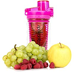 AcquaKids Premium 11.2oz Flip-Top Fruit Infuser Water Bottle. Get Your Kids Creating their Own Naturally Flavored Fruit Infused Water, Juice, Iced Tea & Sparkling Beverages.