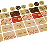 Just for You Sticker for Gift Wrapping, 130 Stickers, Great for Card-making / Home Baking