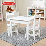 "Melissa & Doug Solid Wood Table & Chairs (Sturdy Wooden Construction, 100-Pound Capacity, Easy to Assemble, 3-Piece Set, 20"" W x 23.5"" H x 20.5"" L)"