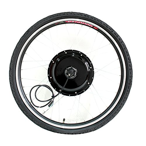 """Tenive 26"""" Front Wheel 48v 1000w Electric Battery Powered Bicycle Motor Conversion Kit (Battery not included)"""