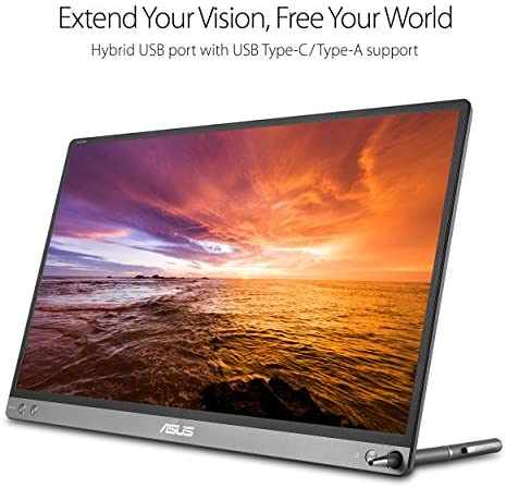 """ASUS ZenScreen 15.6"""" 1080P Portable Monitor (MB16AC) - Full HD, IPS, Eye Care, Foldable Smart Case, Ultra-slim, Lightweight, USB-C Power Delivery, For Laptop, PC, Phone, Console , Black 13"""