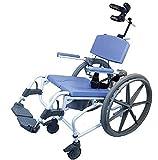 Tilt Shower Commode Bath Toilet wheelchair with 24' wheels