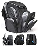 Moondo Parent Backpack- The Perfect Combination of a Travel, Laptop & Diaper Bag Backpack- Large Capacity Designed to Make Airport Travel with Kids Easier and More Functional- Black