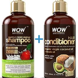 WOW Apple Cider Vinegar Shampoo and Hair Conditioner Set Increase Gloss, Hydration, Shine, Reduce Itchy Scalp, Dandruff…