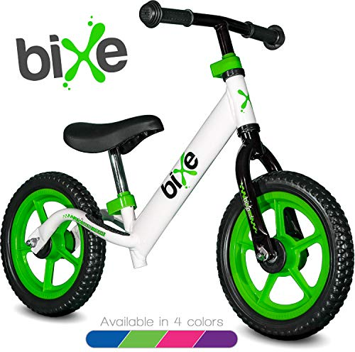 Green (4LBS) Aluminum Balance Bike for Kids and Toddlers - 12' No Pedal Sport Training Bicycle for Children Ages 3,4,5,6.