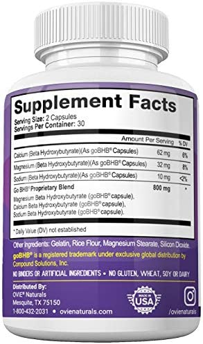 Ultra Fast Keto Boost - Advanced Clinically-researched Patented GoBHB Pure BHB Salts (beta hydroxybutyrate) - 800mg Keto Diet Pills - Best Ketosis Ketogenic Supplement; 60 Capsules; 30 Day Supply 4