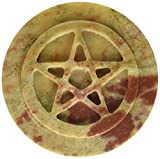 Father's Day Gift Decorative 3 Inches Diameter Star Altar For Home Office Decor Soapstone Pentacle Altar Tile