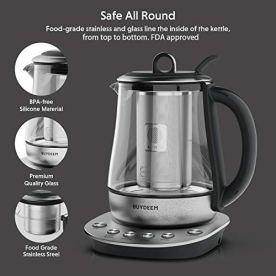 Buydeem-K2423-Tea-Maker-Durable-316-Stainless-Steel-German-Schott-Glass-Electric-Kettle-Removable-Infuser-Auto-Keep-Warm-BPA-Free-12L
