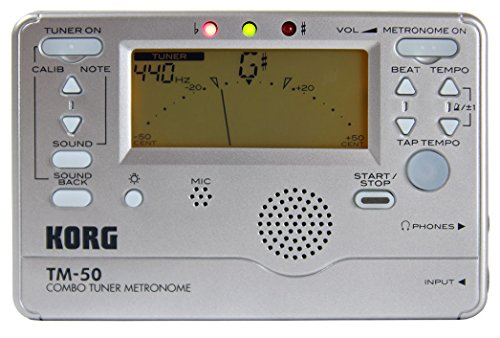 Korg Instrument Tuner and Metronome (Silver)