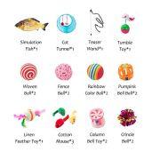 HIPIPET-21PCS-Cat-Toys-Interactive-Kitten-Toys-Assortments-Tunnel-Balls-Fish-Feather-Teaser-Wand-Mice