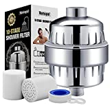 Homspal Shower Water Filter with 2 Cartridges - For Any Shower Head and Handheld Shower - Removing Chlorine, Heavy Metals and Sulfur Odor from Water