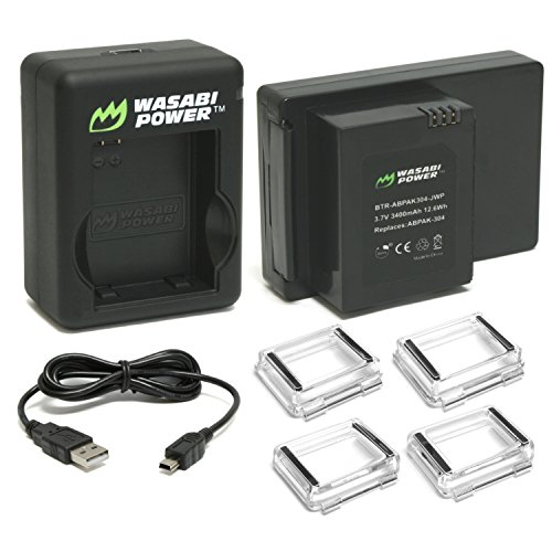 Wasabi Power Extended Battery for GoPro HERO3, HERO3+ (with Dual Charger and Backdoors)