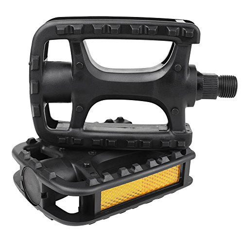 BV Bike Pedal Set, Universal Bicycle Pedals, 9/16-Inch Boron Steel Spindle, Pair