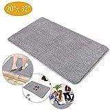 Indoor Doormat Front Door Mat - Non Slip Rubber Backing Super Absorbent Mud and Snow, Magic Dirts Trapper Door Mats, XL Inside Entrance Floor Doormats Machine Washable Rugs (20' x 32' Large Mat)