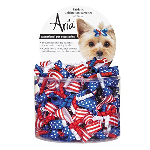 Aria 40 Count Patriotic Celebration Barrette Pet Hair Accessory 1