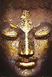 Buddha - Golden Face Inspirational Poster World Culture Poster Print, 24x36