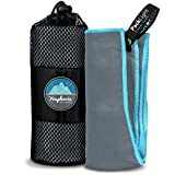 Youphoria Sport Towel and Travel Towel - Super Absorbent and Quick Drying! Camping, Beach, Pool, Gym or Bath. 100% Satisfaction Guarantee! (GrayBlue, 28' x 56')