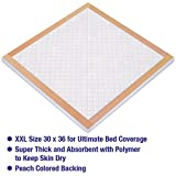 Inspire Extra Thick Disposable Maximum Absorbency Underpads with SAP, 30' X 36', 50 Count