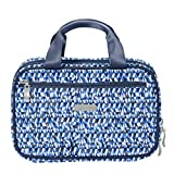 Baggallini Travel Hanging Toiletries Essentials Kit Clear Compartments(Blue Prizm)