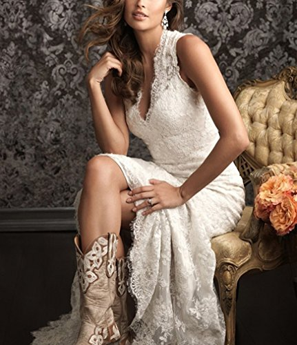 DreHouse Women\'s Lace Vintage Country Style Wedding Dresses ...