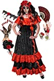 Plus Size Day of The Dead Halloween Costume Deluxe Wig Kit 2X