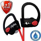 Wireless Headphones w/10+ Hours Battery - Improved 2019 - w/Mic IPX7 Waterproof - Best Workout Earbuds - Bluetooth Sport Earphones - Running Noise Cancelling Gym Music Headset - for Women Men