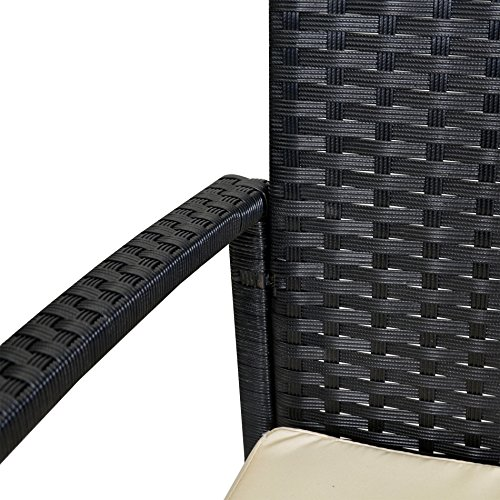 Patio-Furniture-Set-Clearance-Dining-Set-4-Piece-Balcony-Outdoor-Garden-Rattan-Furniture-Set-White-Cushioned-Seat-Black