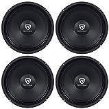 Rockville (4) RM84PRO 8' 4 Ohm 1200 Watt SPL Midrange/Mid-Bass Car Speakers